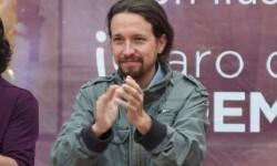 Pablo Iglesias en una acto de Podemos en Madrid en 2014. (Foto-Agencias)