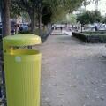Papeleras verdes Castellar-Creu Coberta
