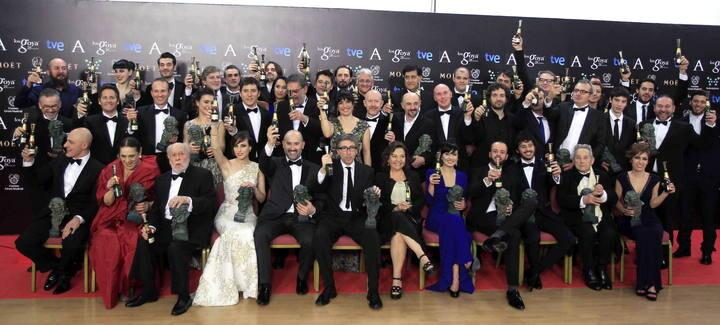 Premiados en la gala de entrega de los 28 premios Goya (Foto-RTVE)