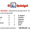 Quinigol celebrada hoy domingo día 07 de diciembre de 2014