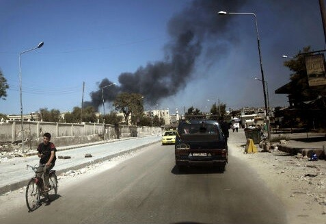 Raqqa, en Siria, lugar donde fue derribado el avión. (Foto-AFP)