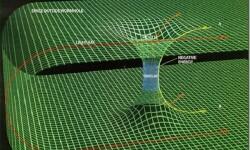 Recreación de la curvatura del tiempo. (Foto-Agencias)1