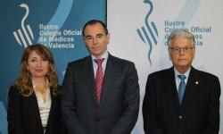 Representantes del ICOMV, RAMV y Conselleria de Sanitat