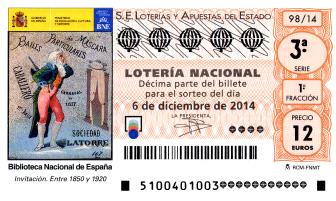 Resultado del sorteo de la loteria nacional sábado 06 de diciembre de 2014