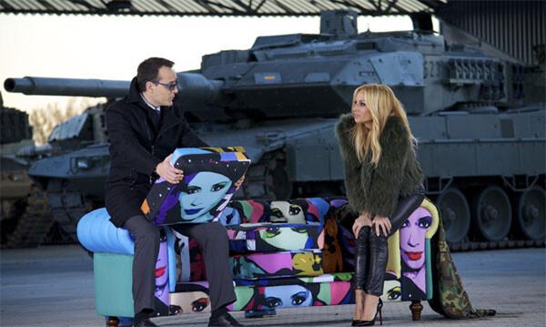 Risto Mejide entrevista a Marta Sánchez en la Base Militar ' class=