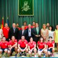 Rus recibe a los ganadores del VIII Mundial de Pelota a Mano