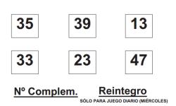 Sorteo de Bonoloto del 3 de diciembre. Números premiados
