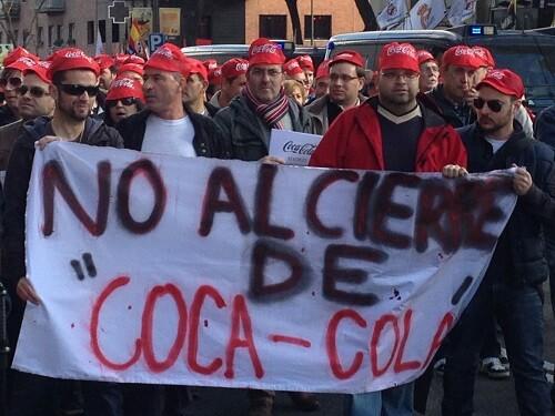 Trabajadores de Coca Cola durante una manifestación en 2014. (Foto-Archivo)