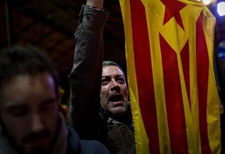 Un manifestante en favor de la soberanía catalana. (Foto-AFP)