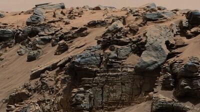 Zona de Marte por donde pudo haber un paso de agua. (Foto-AFP)
