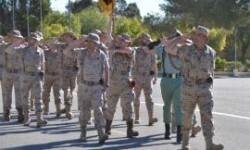 Desfile de los legionarios en el acto en Viator (Foto:BRILEG)