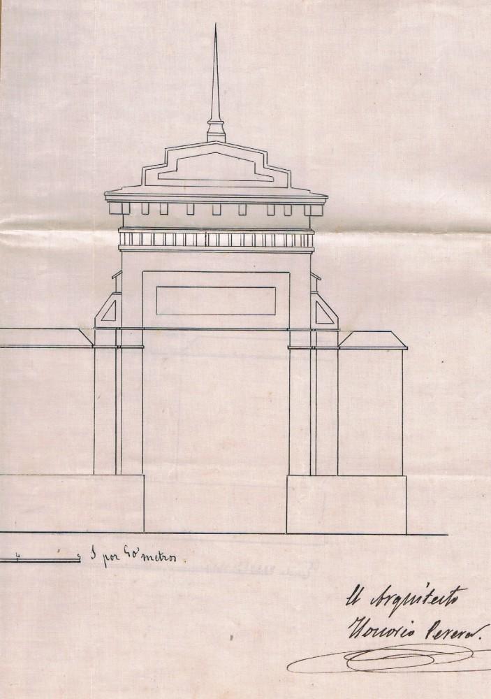Arco de entrada Casa de los Roig. 1861