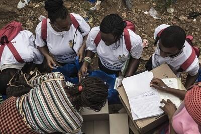 Ayuda humanitaria en una foto de archivo.