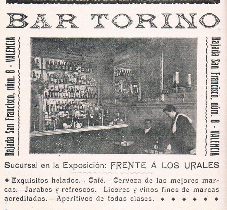 BAR TORINO. Valencia, 1909. A. P. R. S.