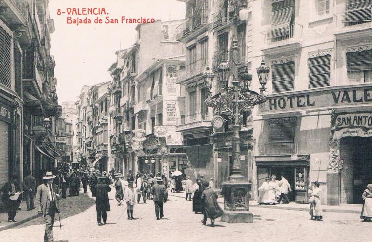 Bajada de San Francisco. Ca. 1920. A. P. R. S.