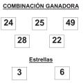 COMBINACIÓN GANADORA DE EUROMILLONES DE FECHA 2 DE ENERO DE 2015.