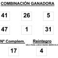 COMBINACIÓN GANADORA DEL SORTEO DE BONOLOTO DEL MIÉRCOLES 28 DE ENERO DE 2015