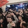 Carpa del partido de izquierdas Syriza (Foto-AFP)