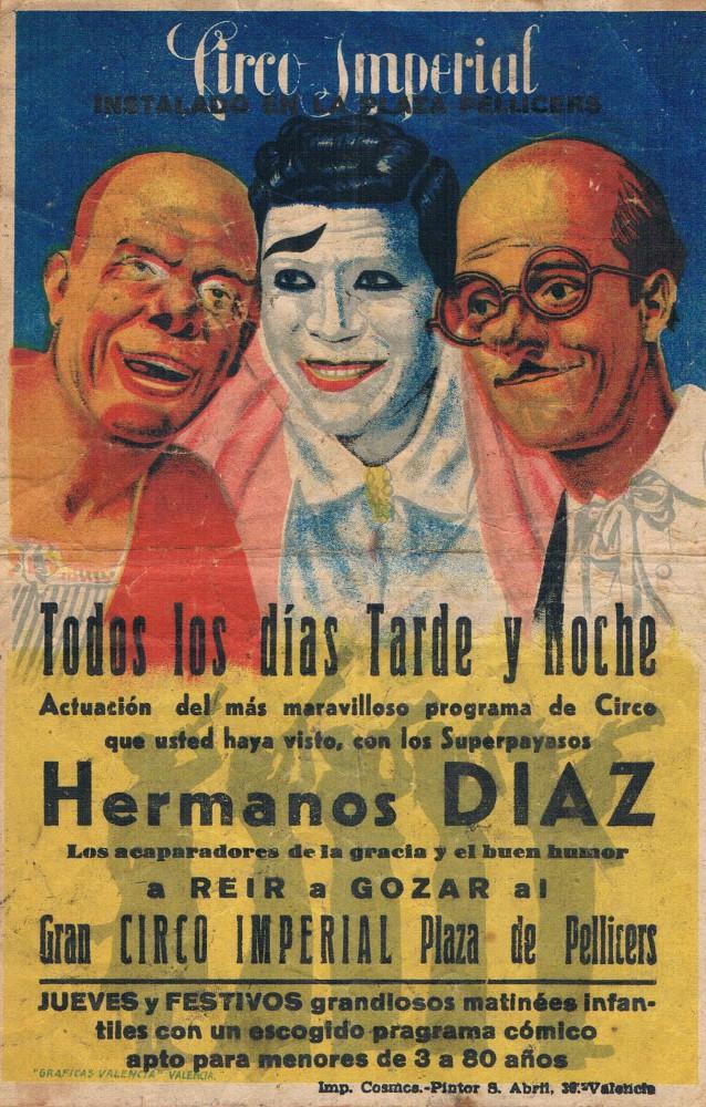 Circo Imperial. Plaza de Pellicers. Años 40. A. P. R. S.