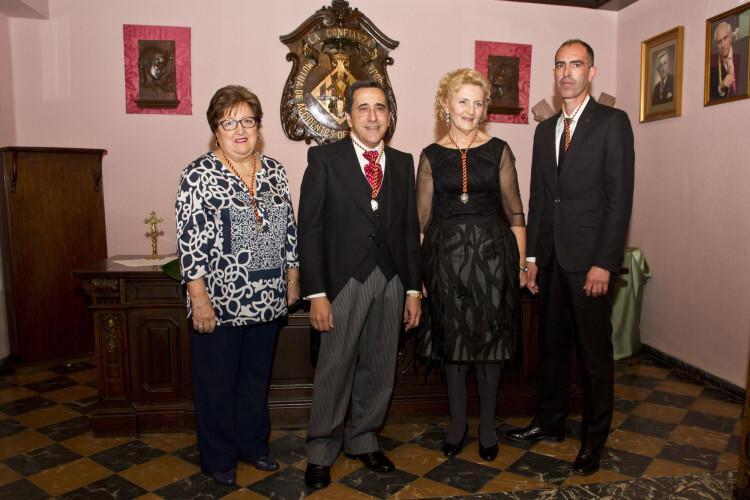 Dama d'art Amparo Gómez, Cavaller de la Senyera Jose Eduardo Puertes, Clavaria Susi Horcajo y Mayoral Francisco Fonseca