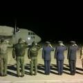 Despedida de los restos mortales de los pilotos griegos fallecidos en el accidente de Albacete (1)