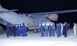 Despedida de los restos mortales de los pilotos griegos fallecidos en el accidente de Albacete (2)