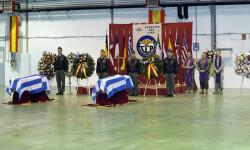 Despedida de los restos mortales de los pilotos griegos fallecidos en el accidente de Albacete (4)