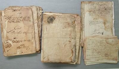 Documentos en recuperación por la Diputación.