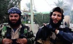 Dos yihadista que forman parte del Estado Islámico.