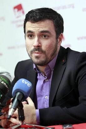 El candidato de Izquierda Unida a la presidencia del Gobierno, Alberto Garzón.