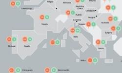 El gráfico sobre el reparto geográfico del origen de las reclamaciones.