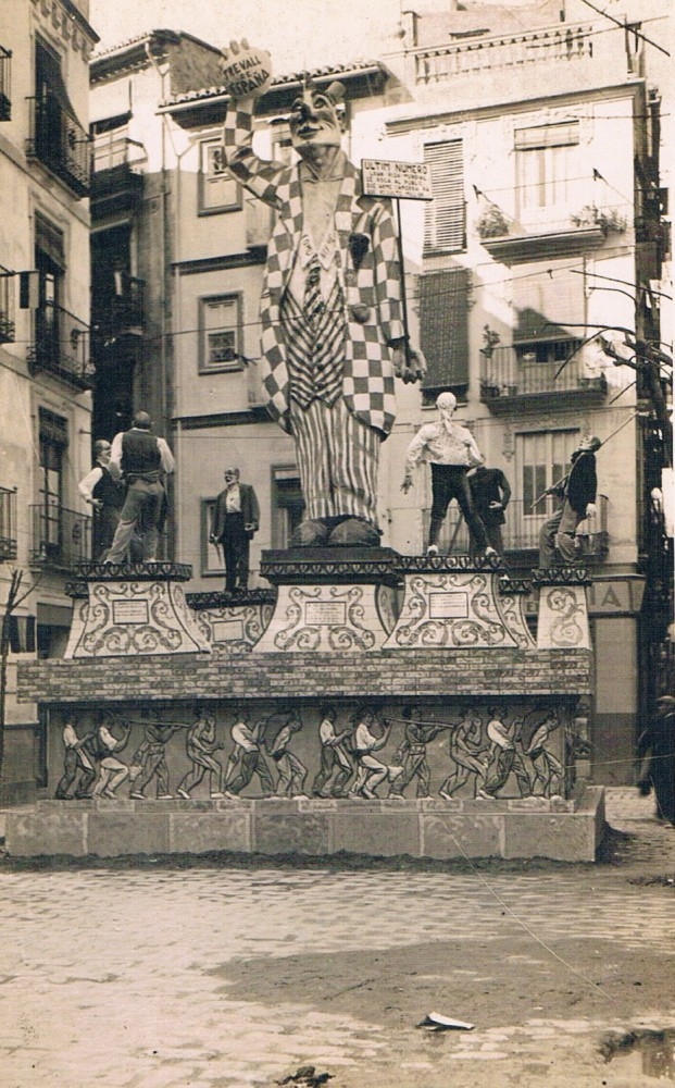 Falla plaça de Pellicers, 1932. A. P. R. S.