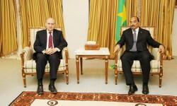 Fernández Diaz junto al presidente de Mauritania.