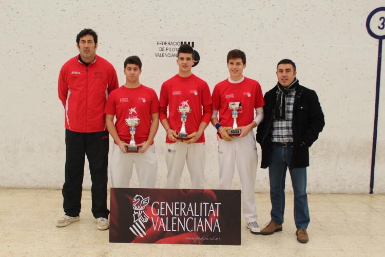 Equipo de Vila-real, campeón de la Lliga cadet 2014-2015