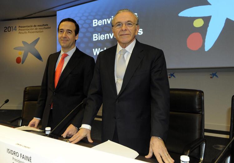 Fotografía Isidro Fainé y Gonzalo Cortázar - Resultados CaixaBank 2014
