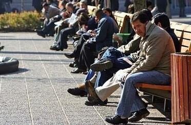 Gente sin empleo. (Foto-AP)