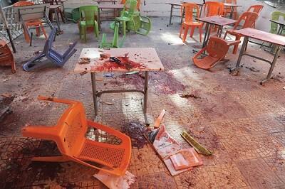 Imagen de una escuela destruída por un ataque. (Foto-Agencias)