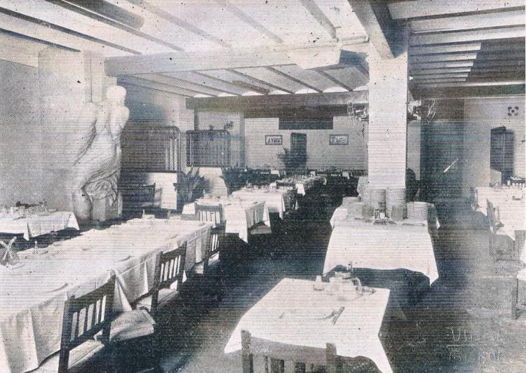Interior del Hostal del Ninot. 1933. A. P. R. S.