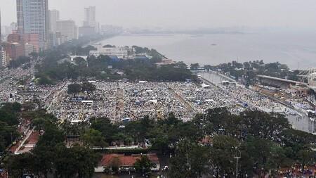 Jamás en la hitoria un papa había reunido a tantos millones de fieles. (Foto-AP)