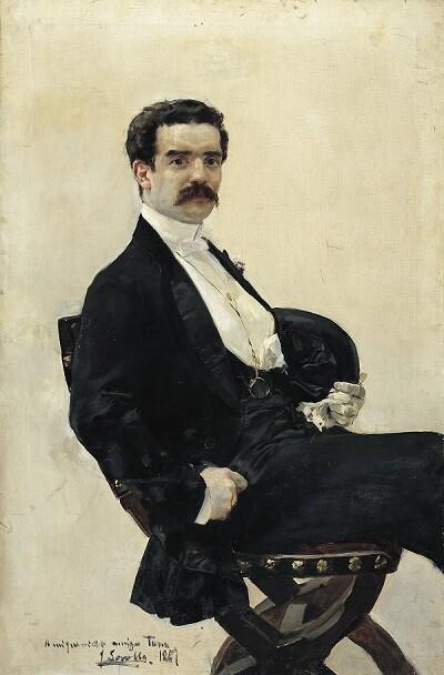 Juan Antonio García del Castillo pintado por Sorolla.