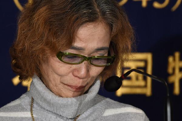 Junko Ishido, madre del periodista secuestrado pide la liberación de su hijo al Estado Islámico. (Foto-AP)