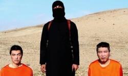 Kenji Goto y Haruna Yukawa secustrados por el Estado Islámico.