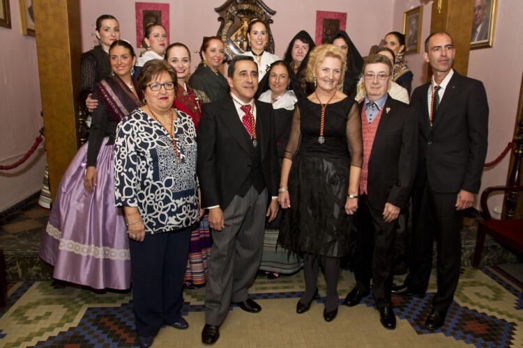 La Junta 2015 del patrón del Gremio junto al Premio Joia de Diamants, Enrique Marzal - copia