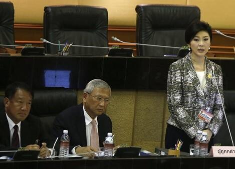 La ex primera ministra tailandesa, Yingluck Shinawatra durante su comparecencia ante la Asamblea Nacional. (Foto-Agencias) - copia