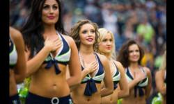 Las Sea Gals de Seattle y las animadoras de los Patriots de Nueva Inglaterra se preparan para el duelo de belleza en el máximo evento deportivo de EEUU (6)