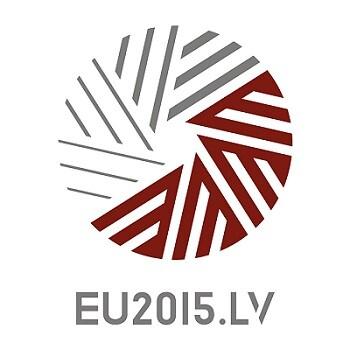 Logo de la Presidencia letona del Consejo de la Unión Europea