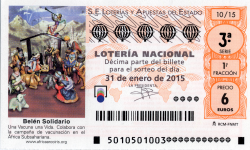 Lotería Nacional,Sorteo de lotería nacional del 31 de enero de 2015