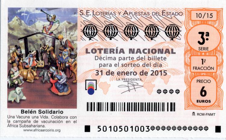 PRÓXIMO SORTEO, SORTEO DE LOTERÍA NACIONAL   El sábado día 7