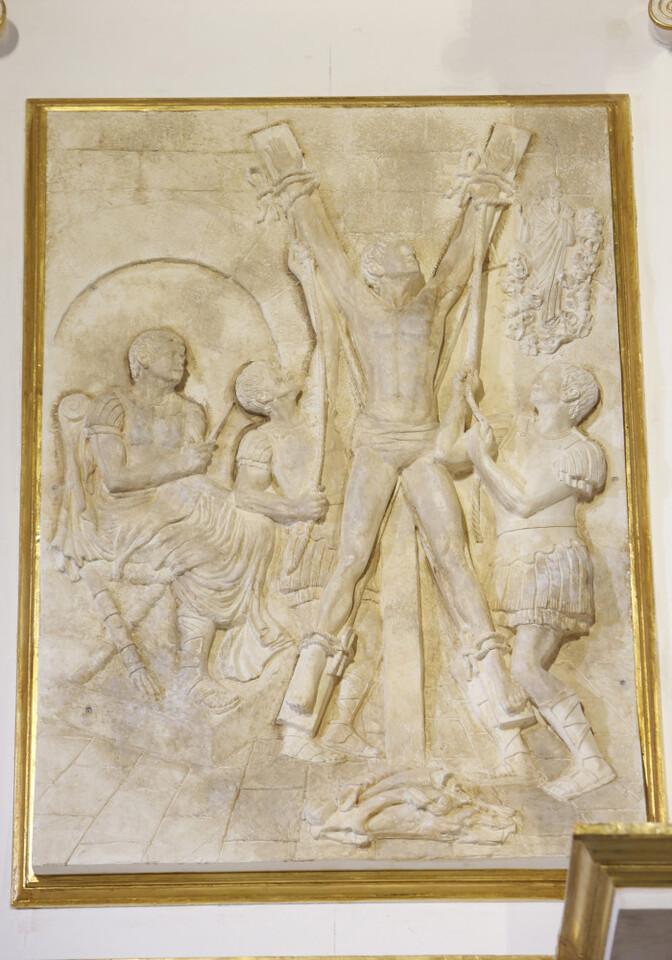 Retablo reformado de la parroquia Cristo Rey. San Vicente (Photo: Alberto Sáiz)