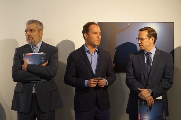 Manuel Chirivella, Paul Ruseler y Pablo Mazo en la Rueda de Prensa World Press Photo